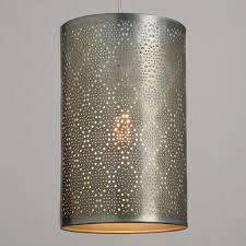 cl on light bulb shade pewter pierced metal sita pendant shade world market