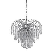 images chandeliers shop canarm olivia 19 in 4 light chrome crystal crystal waterfall