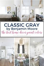 what paint color goes best with gray kitchen cabinets benjamin classic gray the best home decor paint colors