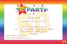 50th birthday party invitations templates oxsvitation com