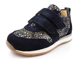 buy angulus sneaker navy blue circle with velcro at milkywalk