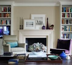built in bookshelf living room traditional with coffee table white