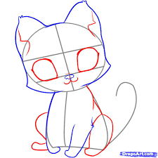 images of draw a cute cat sc