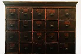 Antique Storage Cabinet Large Antique Multi Drawer Storage Cabinet Circa 1890s For Sale