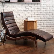 Indoor Chaise Lounge Chairs by Home Design Espresso Leather Chaise Lounge Chair With Pillow Top