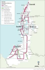 Seattle Rail Map by St Survey New Corridors For Light Rail And Express Buses Seattle