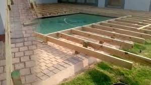building a wooden pool deck youtube