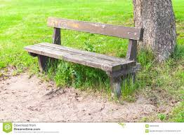 Wooden Park Bench Old Wooden Bench On Roadside In Park Stock Photo Image 64001843