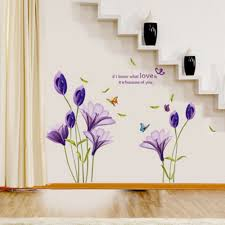 popular purple baby room buy cheap purple baby room lots from purple lily flowers butterflieswall sticker diy home decal art poster murals kids baby room living room