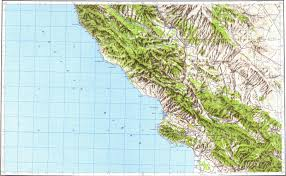 Pismo Beach Map Download Topographic Map In Area Of Atascadero San Luis Obispo