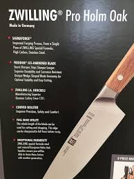 amazon com zwilling henckels germany 8 pc pro holm oak wood knife