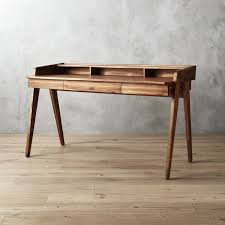 Desk Used Wood Desks For Sale Build A Wood Plank Desktop For by Modern Desks Cb2