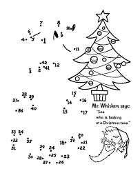 christmas connect dots printables coloring