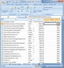 percentage calculator excel using percent rank in excel