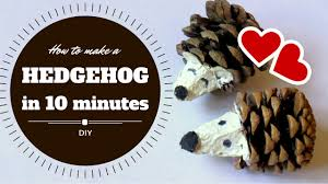 how to make a hedgehog in 10 minutes easy craft for kids by