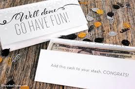 printable graduation money card craft