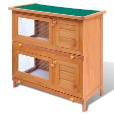 Outdoor Rabbit Hutch Plans Outdoor Rabbit Hutch Small Animal House Pet Cage 4 Doors Wood