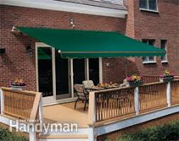 Roof Mounted Retractable Awning How To Shade Your Deck Or Patio Family Handyman