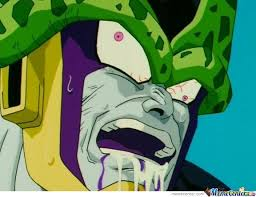 Cell Meme - dbz cell derp face by hommous meme center