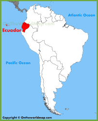 Bank Of America Maps by Ecuador Location On The South America Map