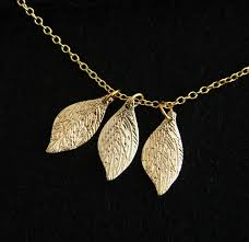 personalized necklaces for women colourful 3 lucky leaves necklace for women girl 18k gold necklace