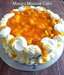 Kek Mango my mintroom mango mousse cake