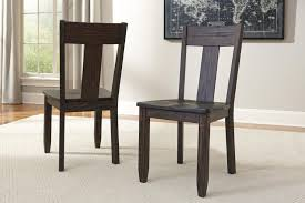 7 piece oval dining table set with wood seat side chairs by