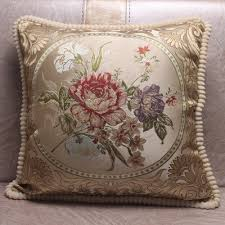 Pillow Covers For Sofa by Aliexpress Com Buy European Style Jacquard Elegant Floral