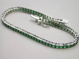 emerald bracelet white gold images 925 sterling silver 18k white gold emerald tennis bracelet jpeg