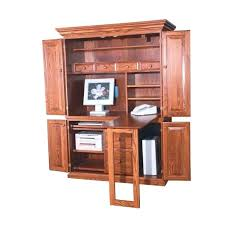 Distressed Computer Desk Distressed Computer Armoire Computer In Natural Brown Wood With