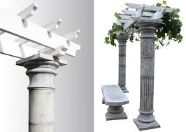 Decorative Concrete Pillars Column Mold History Stones