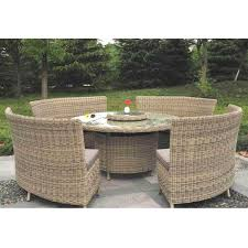 modena 8 12 person with lazy susan rattan garden dining set