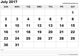 2017 us calendar printable july 2017 calendar us