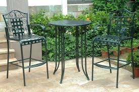 Patio Chairs Bar Height Three Posts Snowberry 3 Piece Wrought Iron Bar Height Bistro Patio