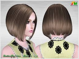 butterfly for hair shiny bob hairstyle 124 by butterfly sims 3 hairs