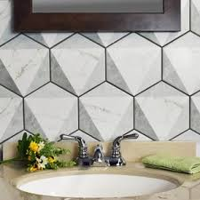 White Tile Bathroom Floor by Bathroom Tile You U0027ll Love Wayfair