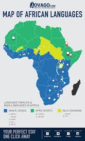 Lagos Africa Map The Main Languages Of Africa