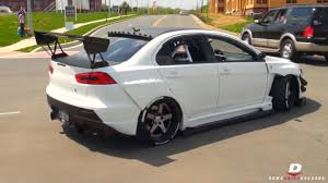 lancer mitsubishi white modified mitsubishi lancer evo x panda junction youtube