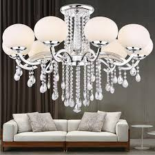Glass Shade Chandelier Discount New Led 9 Shades Glass Shade Crystal Ceiling Light Lamp