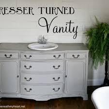 Antique Dresser Vanity Dresser Turned Vanity Hometalk