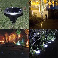 solar powered ground lights 8 led solar path lights outdoor