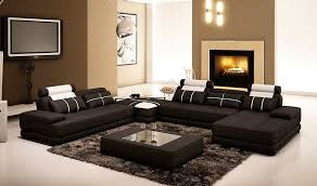 Large Black Leather Sofa Black Leather Sectional Sofa With Coffee Table Vg005d Leather