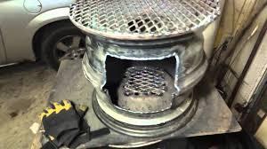 Welded Fire Pit Steel Wheel Fire Pit Cook Stove Wheel Rim Firepit Youtube