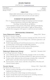 Resume Pattern For Job by Administrative Resume Sample Berathen Com
