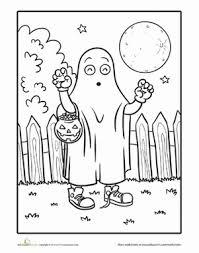 halloween ghost worksheet education