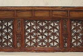 Carved Wood Headboard Carved Wood Temple Transom Headboard Item 388872
