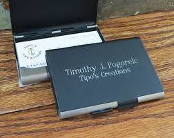 engraved office gifts leather business card holder personalized engraved
