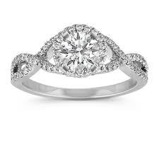 swirl engagement rings infinity swirl halo engagement ring with pav eacute setting