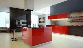 Red Black White Kitchen - black and red kitchen designs kitchen design ideas with white