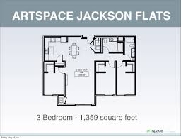 floor plan of 3 bedroom flat artspace jackson flats artspace